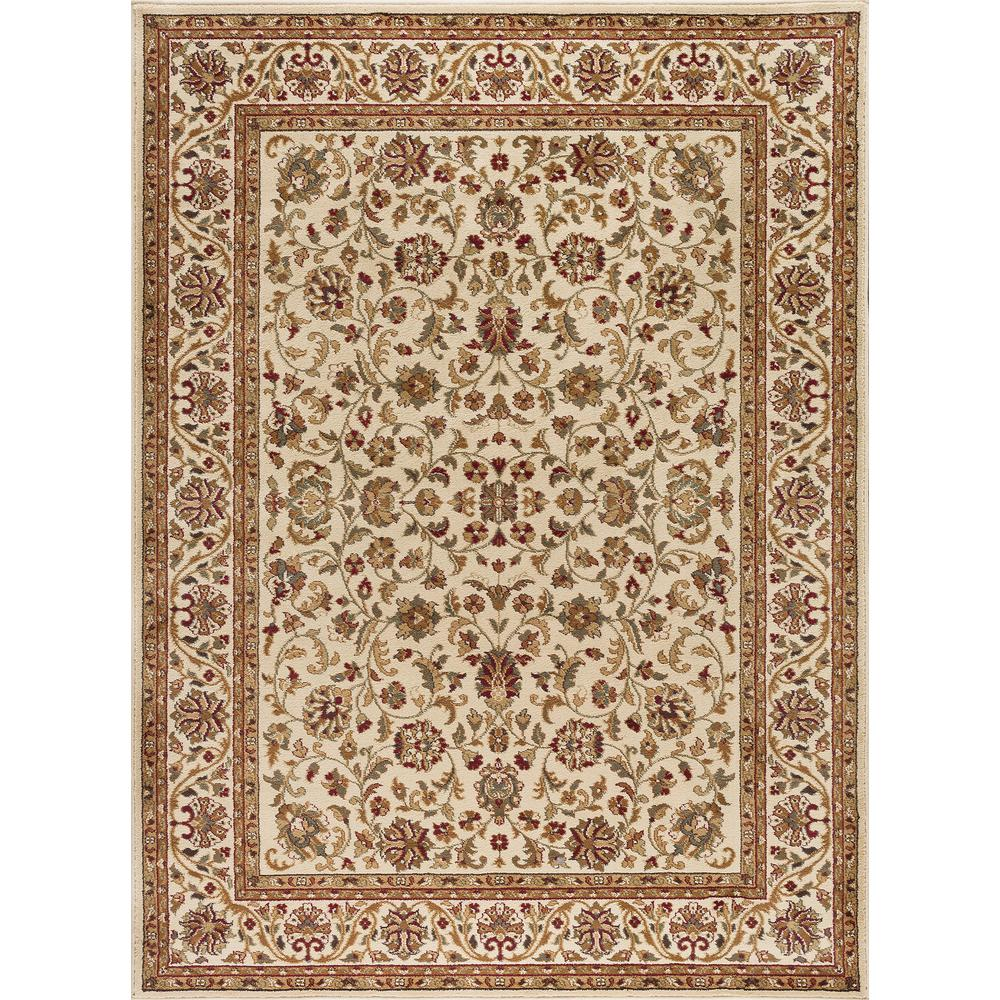 Tayse Rugs Sensation Ivory 8 ft. 9 in. x 12 ft. 3 in. Transitional Area Rug