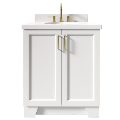 Taylor 31 in. W x 22 in. D Bath Vanity in White with Quartz Vanity Top in White with White Basin