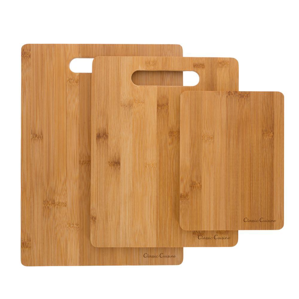 3-Piece Wooden Cutting Board Set