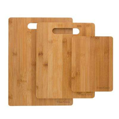 3-Piece Wooden Cutting Board Set