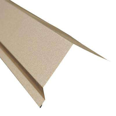 5 in. x 10.5 ft. Eave Flashing Molding in Galvalume