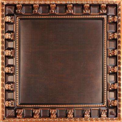 Parthenon 2 ft. x 2 ft. PVC Lay-in Ceiling Tile in Antique Copper