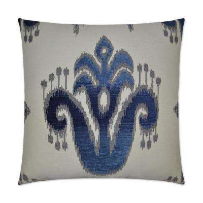 Caeeah Indigo Feather Down 24 in. x 24 in. Decorative Throw Pillow