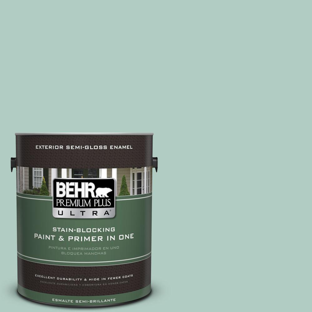 BEHR Premium Plus Ultra 1-gal. #M430-3 Wintergreen Dream Semi-Gloss Enamel Exterior Paint