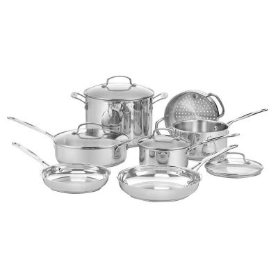 Chef's Classic 11-Piece Stainless Steel Cookware Set with Lids