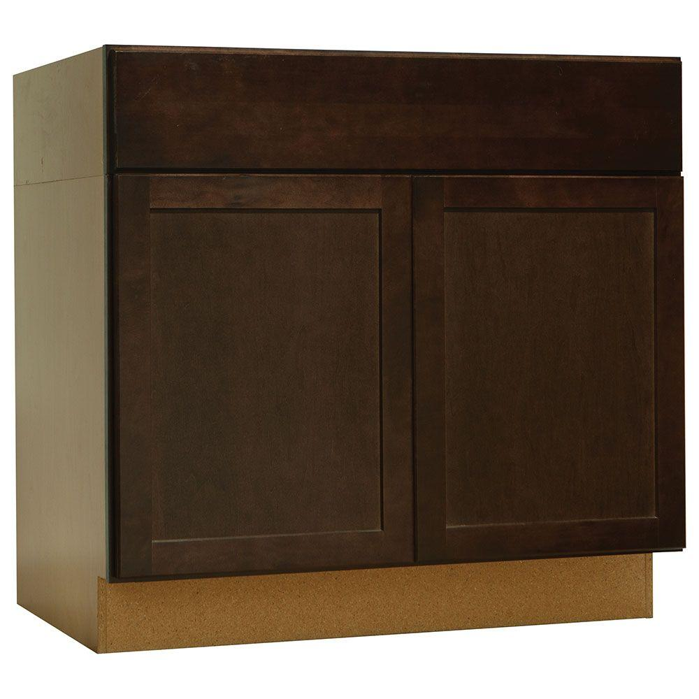 Hampton Bay Kitchen Cabinets At Home Depot: Hampton Bay Shaker Assembled 36x34.5x24 In. Accessible