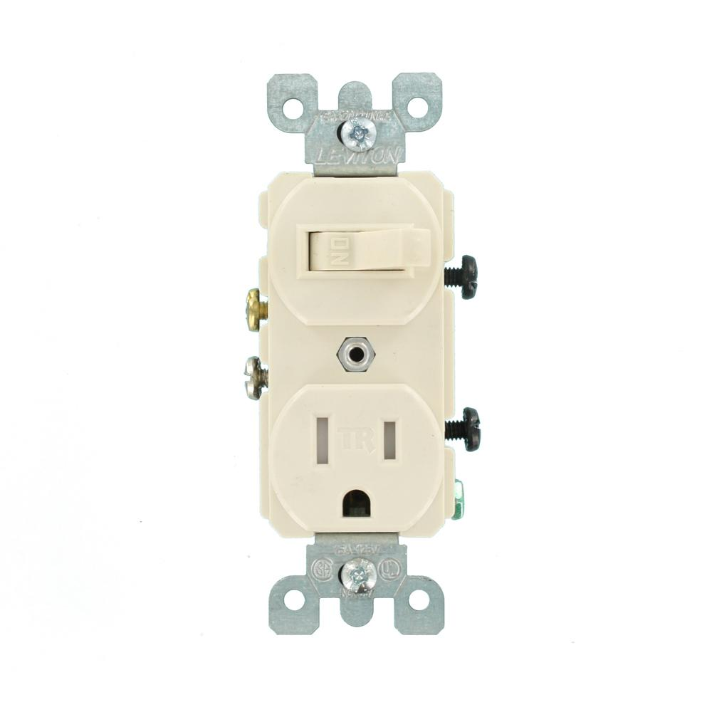 [DIAGRAM_38EU]  Leviton 15 Amp Tamper-Resistant Combination Switch/Outlet, Light Almond-R56- T5225-0TS - The Home Depot   Leviton T5225 Wiring Diagram Switch      The Home Depot