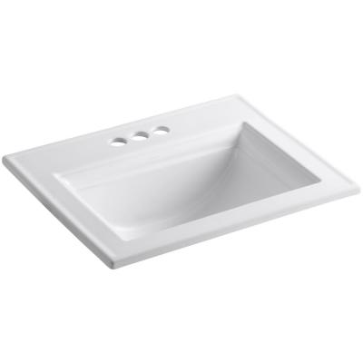 Memoirs Stately Drop-In Vitreous China Bathroom Sink in White with Overflow Drain