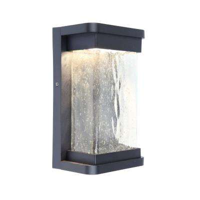 Black Outdoor Integrated LED Wall Mount Barn Light Sconce Latern