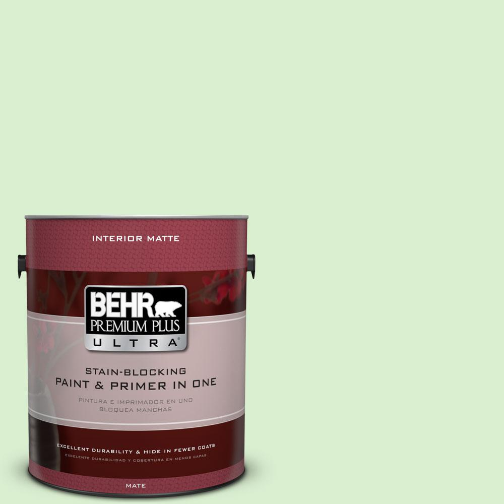 1 gal. #430A-2 Seafoam Spray Matte Interior Paint and Primer in