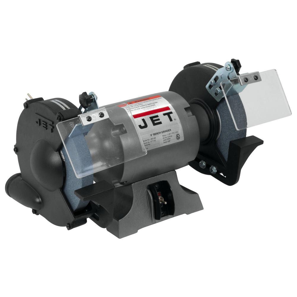 1 HP 8 in. Industrial Metalworking Bench Grinder, 115-Volt JBG-8A