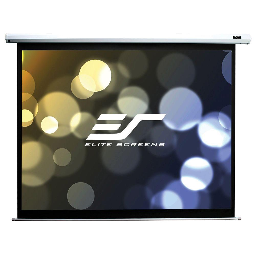 Elite Screens 100 in. Spectrum Electric Projection Screen - Matte White  with White Case