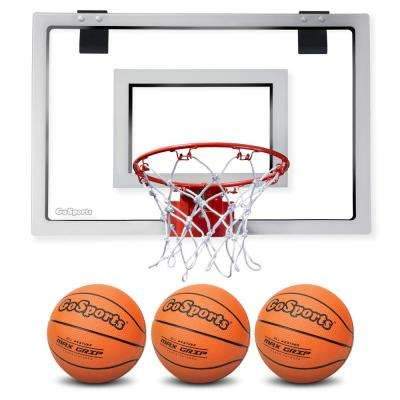 Over the Door Basketball Hoop with 3 Premium Basketballs and Pump - PRO Size