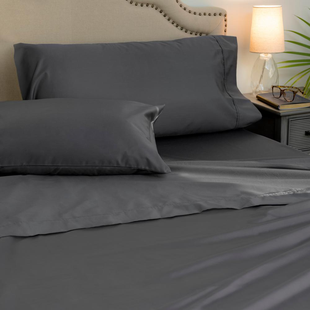 4 piece platinum 1000 thread count cotton poly king sheet set ehda ss king 04 the home depot. Black Bedroom Furniture Sets. Home Design Ideas