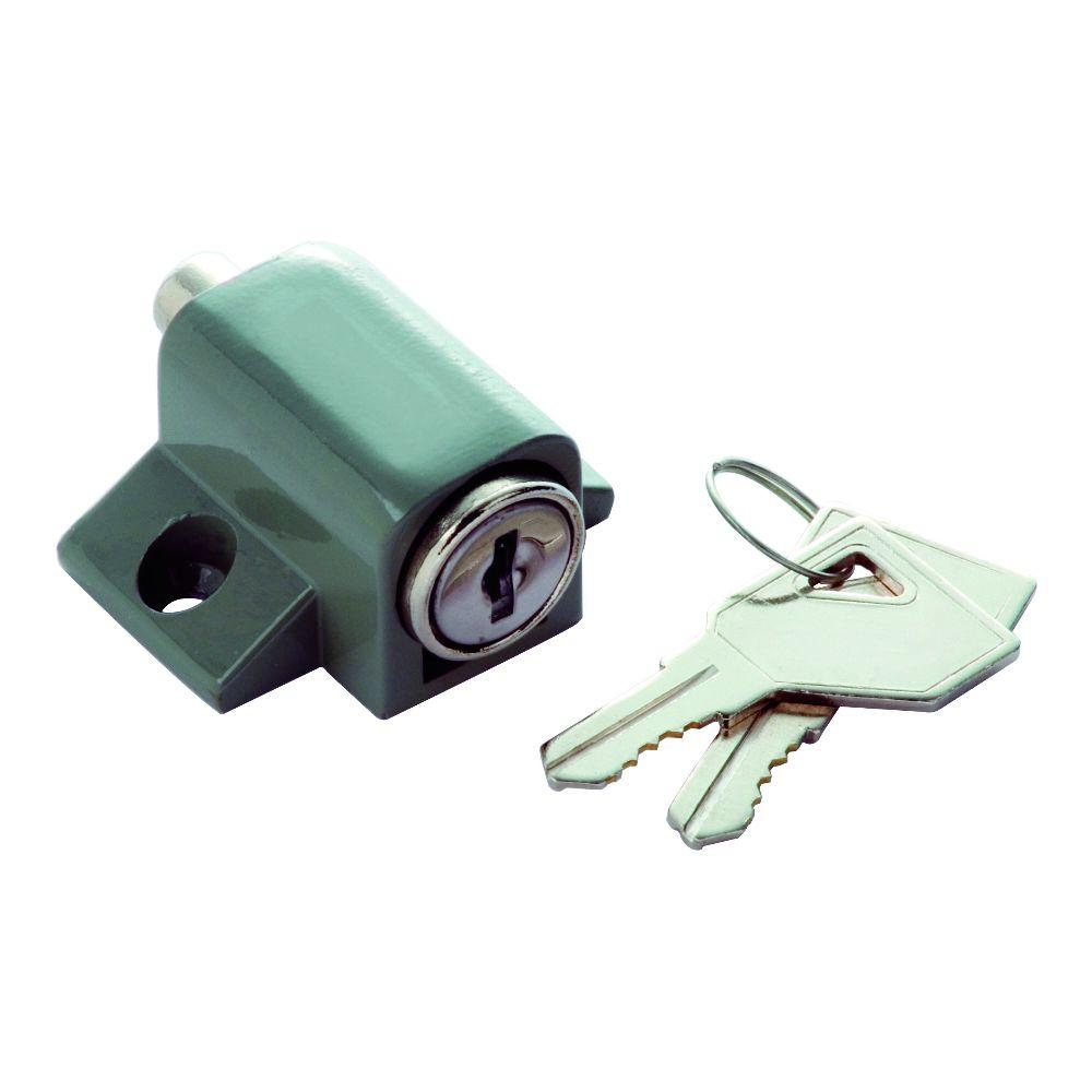 Grey Keyed Alike Keyed Patio Lock