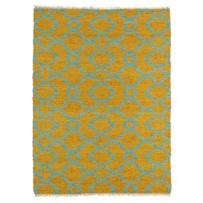 Kenwood Turquoise 8 ft. x 11 ft. Double Sided Area Rug