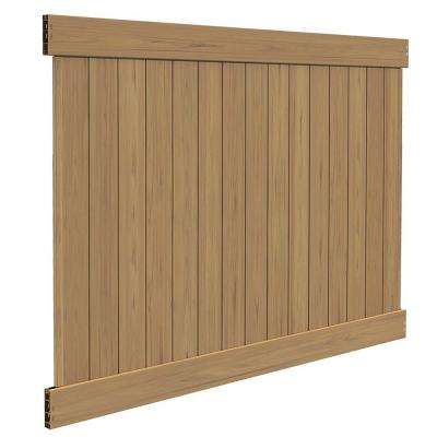 Linden 6 ft. H x 8 ft. W Cypress Vinyl Privacy Fence Panel Kit