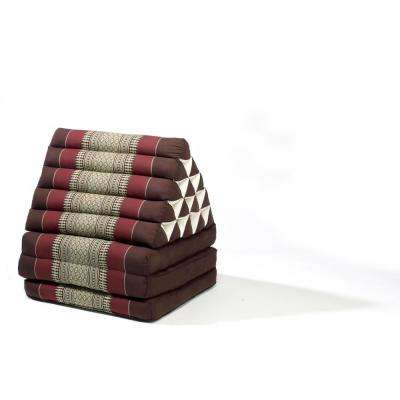 Brown/Burgundy Jumbo Triangle Lounger and Recliner