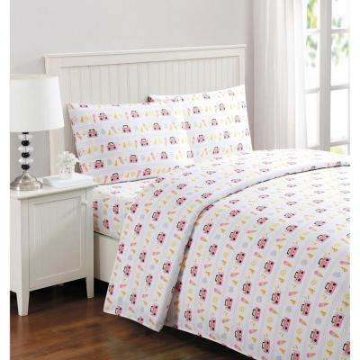 Polyester Geometric Full Bed Sheets Pillowcases Bedding