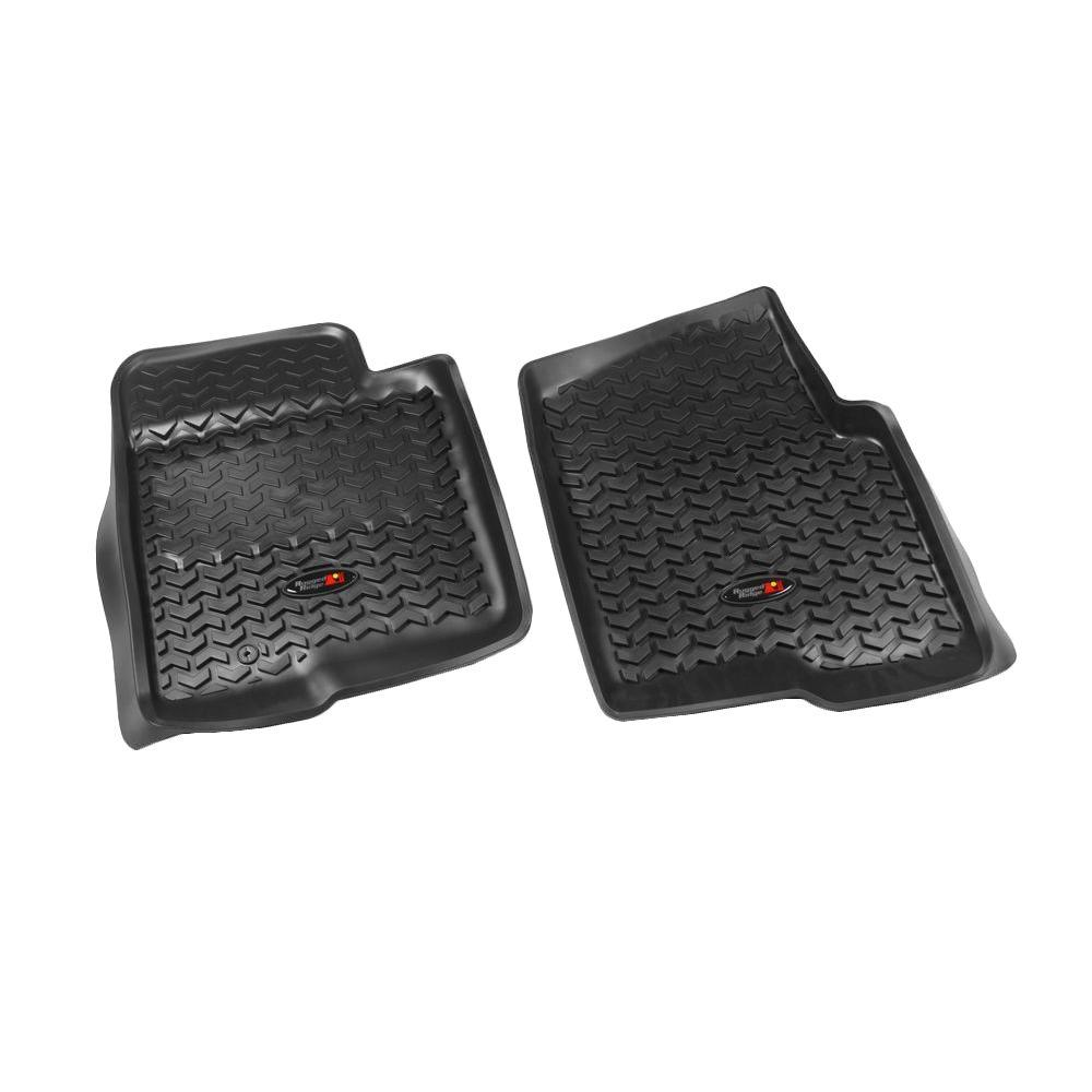 Rugged Floor Liner Front Pair Black 2009-2011 Ford F150 s...