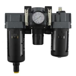 3/8 inch NPT Polycarbonate FRL Air Filter Regulator and Lubricator System