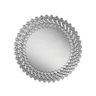 Stacy Round Silver Decorative Wall Mirror