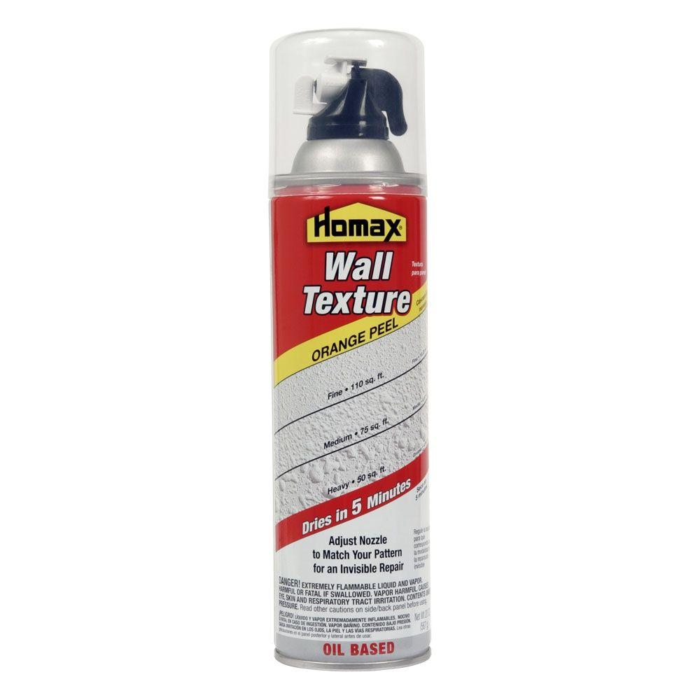 Spray On Plaster For Walls : Homax oz wall orange peel quick dry oil based spray
