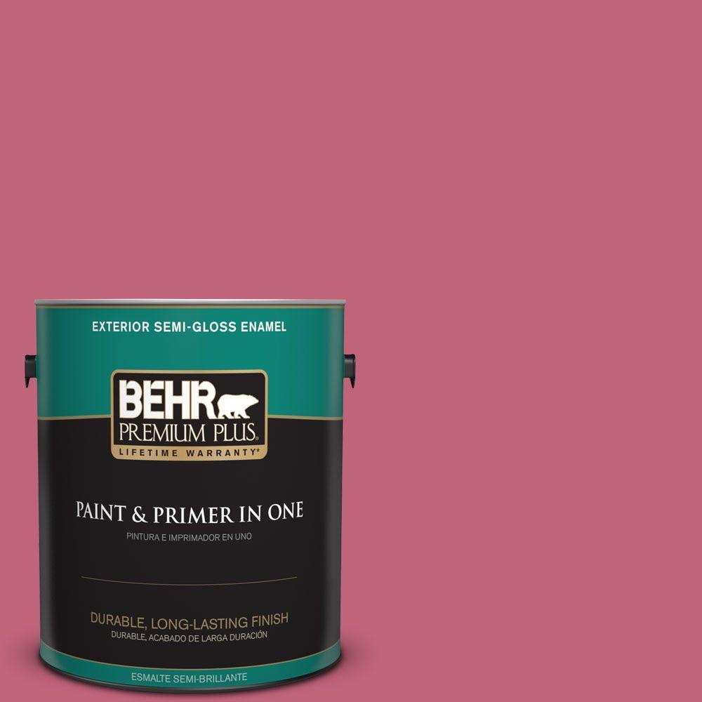 BEHR Premium Plus 1-gal. #120D-4 Mulberry Semi-Gloss Enamel Exterior Paint