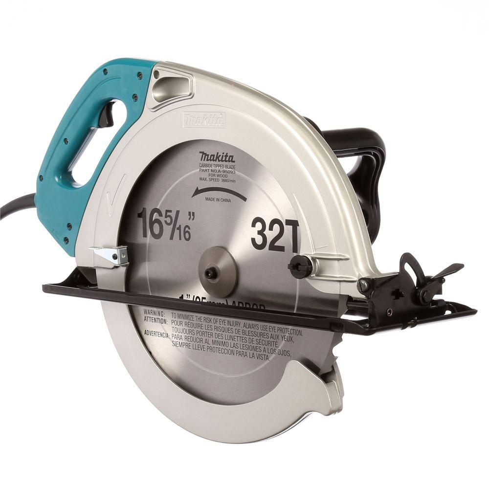 Makita 15 amp 16 516 in corded circular saw with 32t carbide corded circular saw with 32t carbide blade and rip fence 5402na the home depot greentooth Image collections