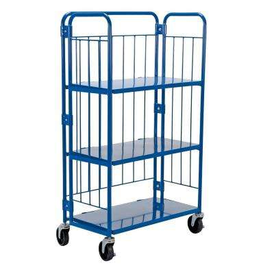 34 in. x 59 in. Blue Nestable Roller Container
