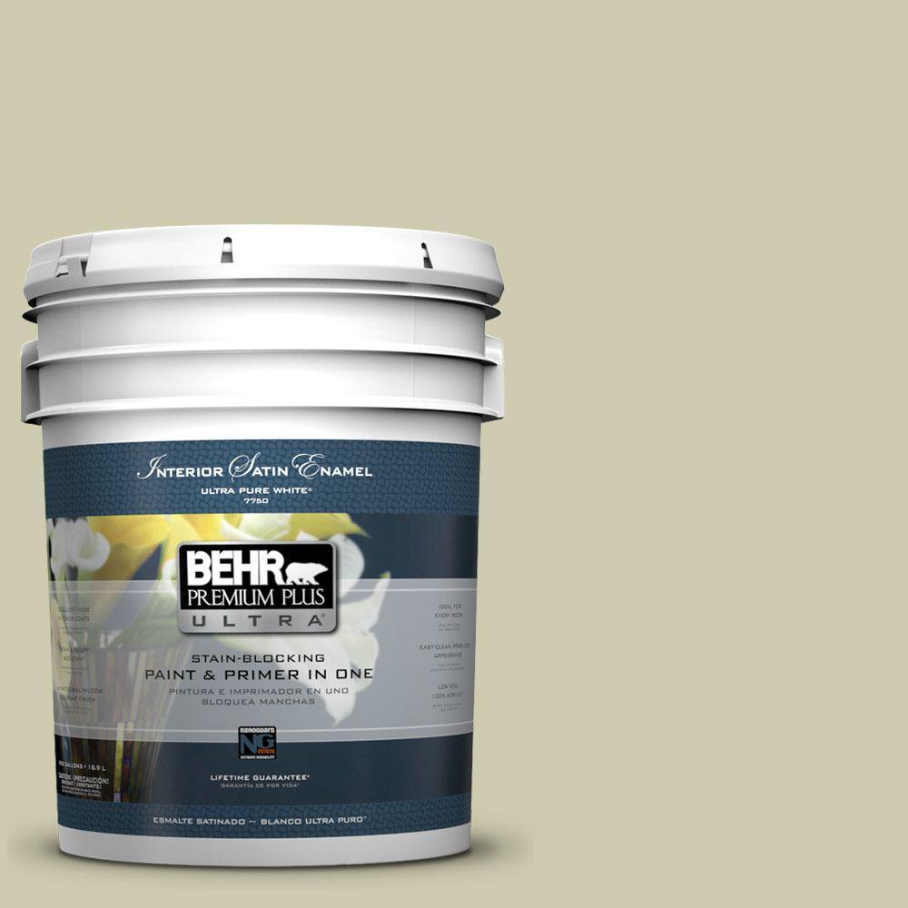 BEHR Premium Plus Ultra 5-gal. #PPU9-18 Cilantro Cream Satin Enamel Interior Paint