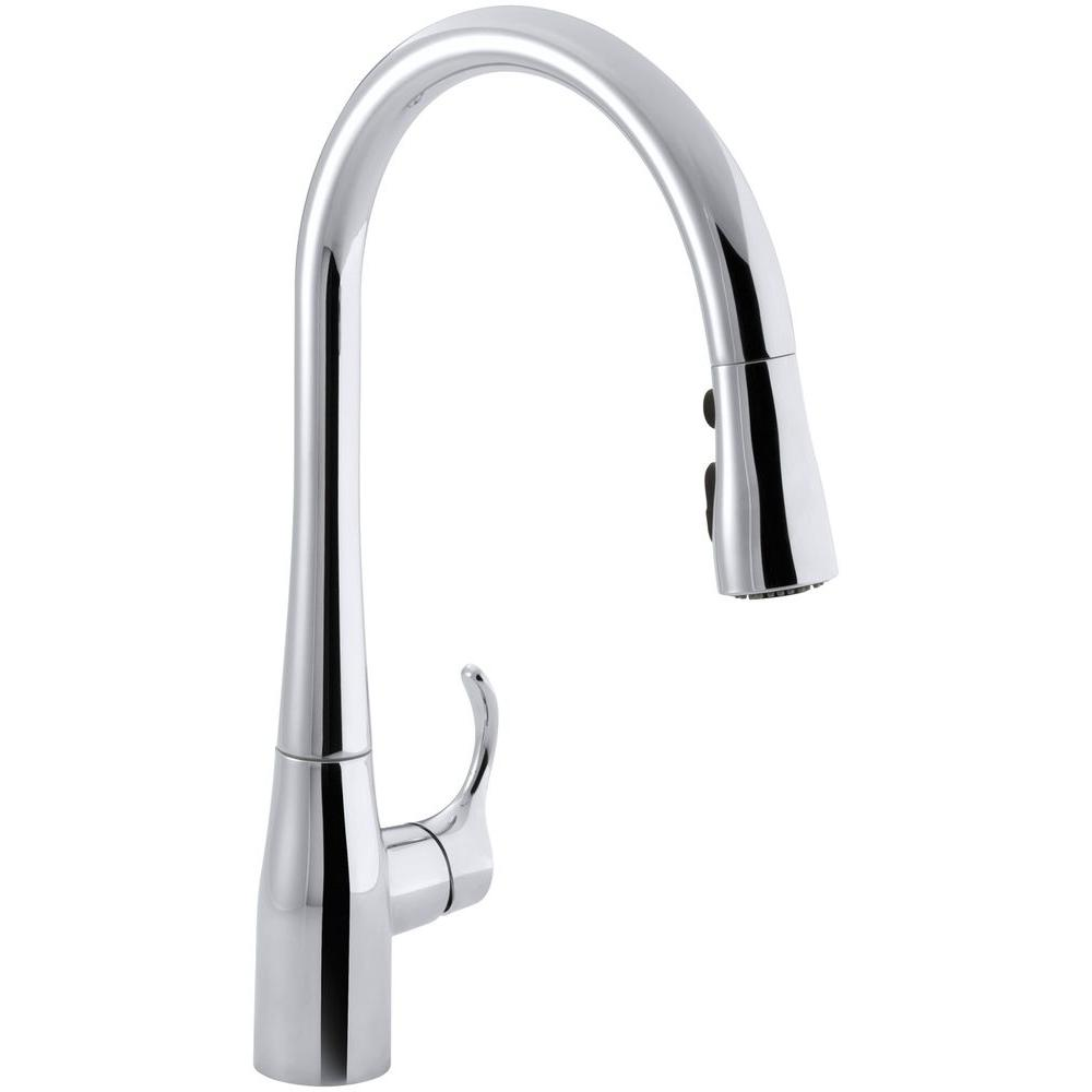 Kohler Simplice Single Handle Pull Down Sprayer Kitchen Faucet With