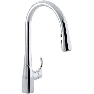 Simplice Single-Handle Pull-Down Sprayer Kitchen Faucet with DockNetik and Sweep Spray in Polished Chrome
