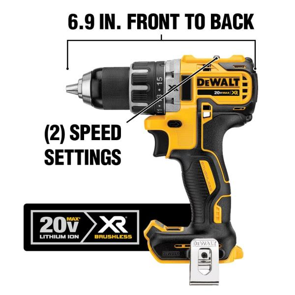 DeWalt compact lightweight light with 180 degree adjustment