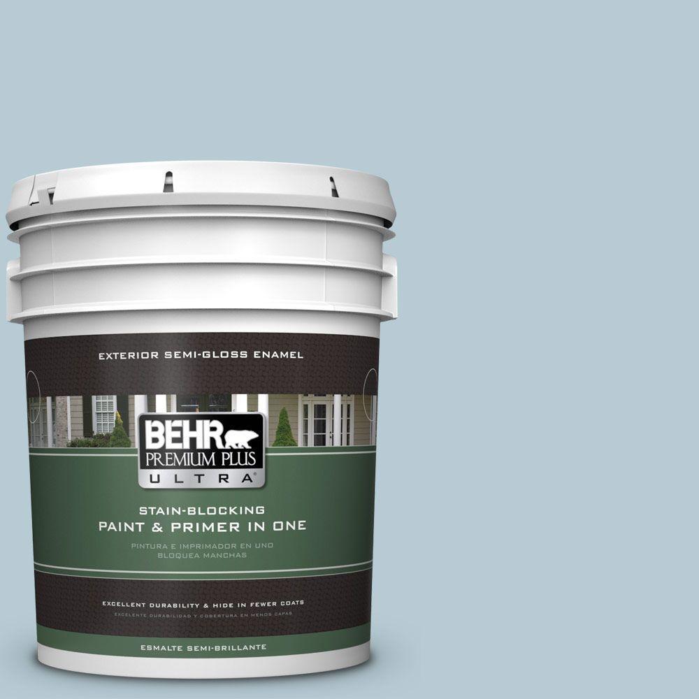 BEHR Premium Plus Ultra 5-gal. #530E-3 Sonata Semi-Gloss Enamel Exterior Paint