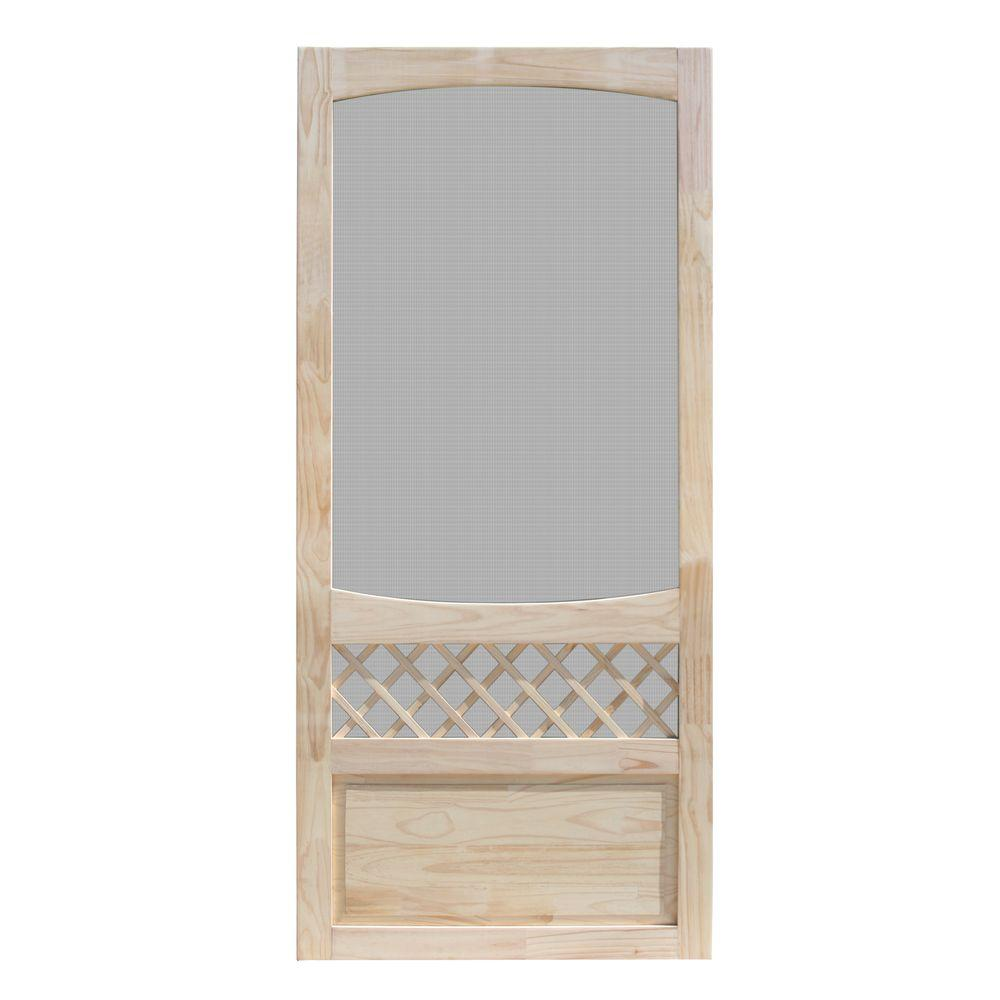 Exterior Screen Doors Home Depot: Unique Home Designs 32 In. X 80 In. Sheridan Unfinished