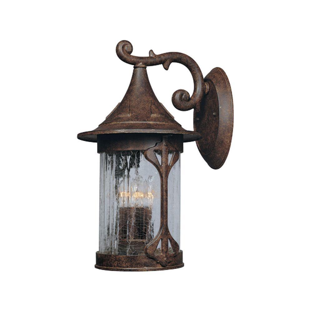 Mill Creek 4-Light Chestnut Outdoor Wall-Mount Lantern