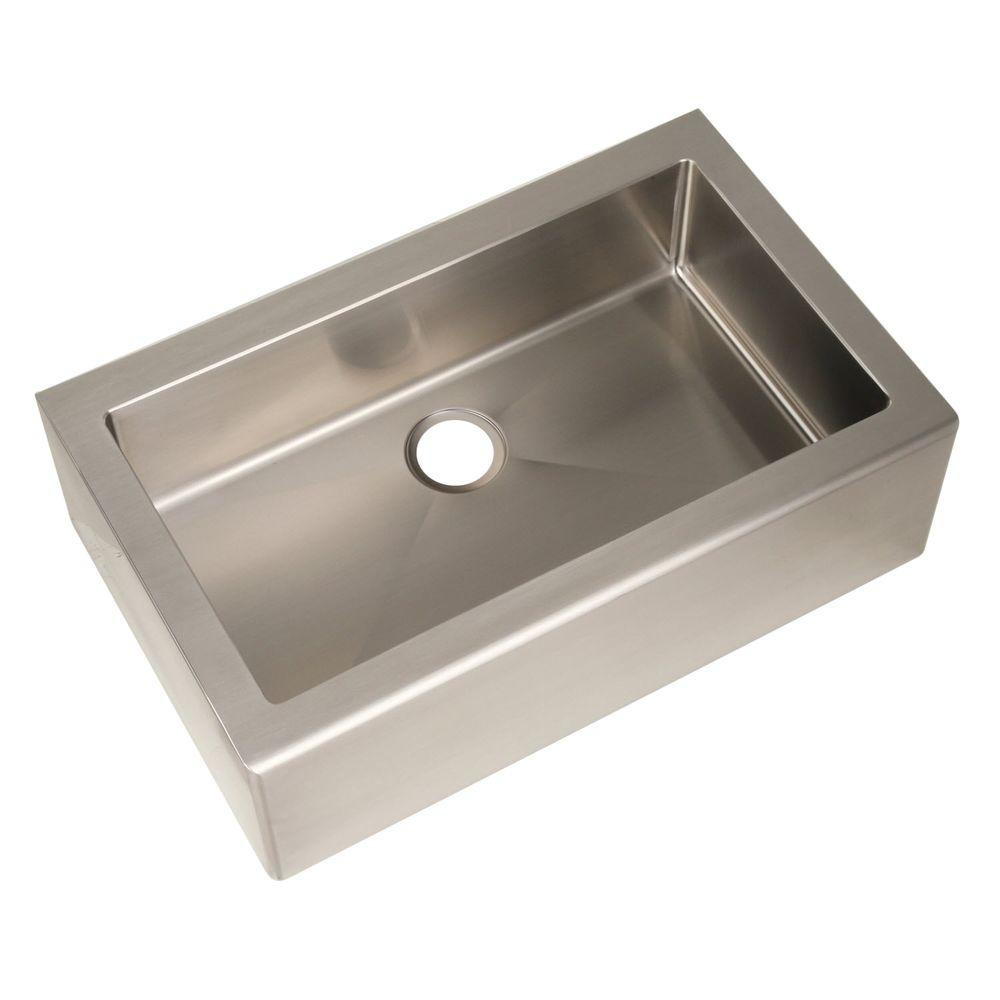 Delicieux Pegasus Farmhouse Apron Front Freestanding Stainless Steel 33 In. Single  Bowl Kitchen Sink
