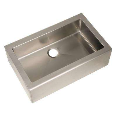 Farmhouse Apron Front Freestanding Stainless Steel 33 in. Single Basin Kitchen Sink