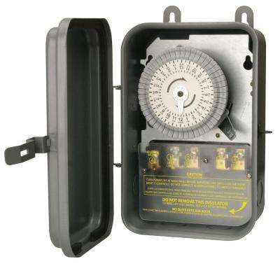 40-Amp 208-277-Volt DPST 24-Hour Mechanical Time Switch with Metal Outdoor Enclosure