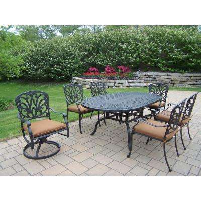 Hampton 7-Piece Patio Dining Set with Sunbrella Cushions