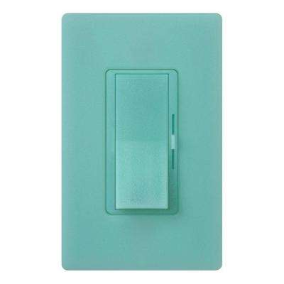 Diva C.L Dimmer for Dimmable LED, Halogen and Incandescent Bulbs, Single-Pole or 3-Way, Sea Glass