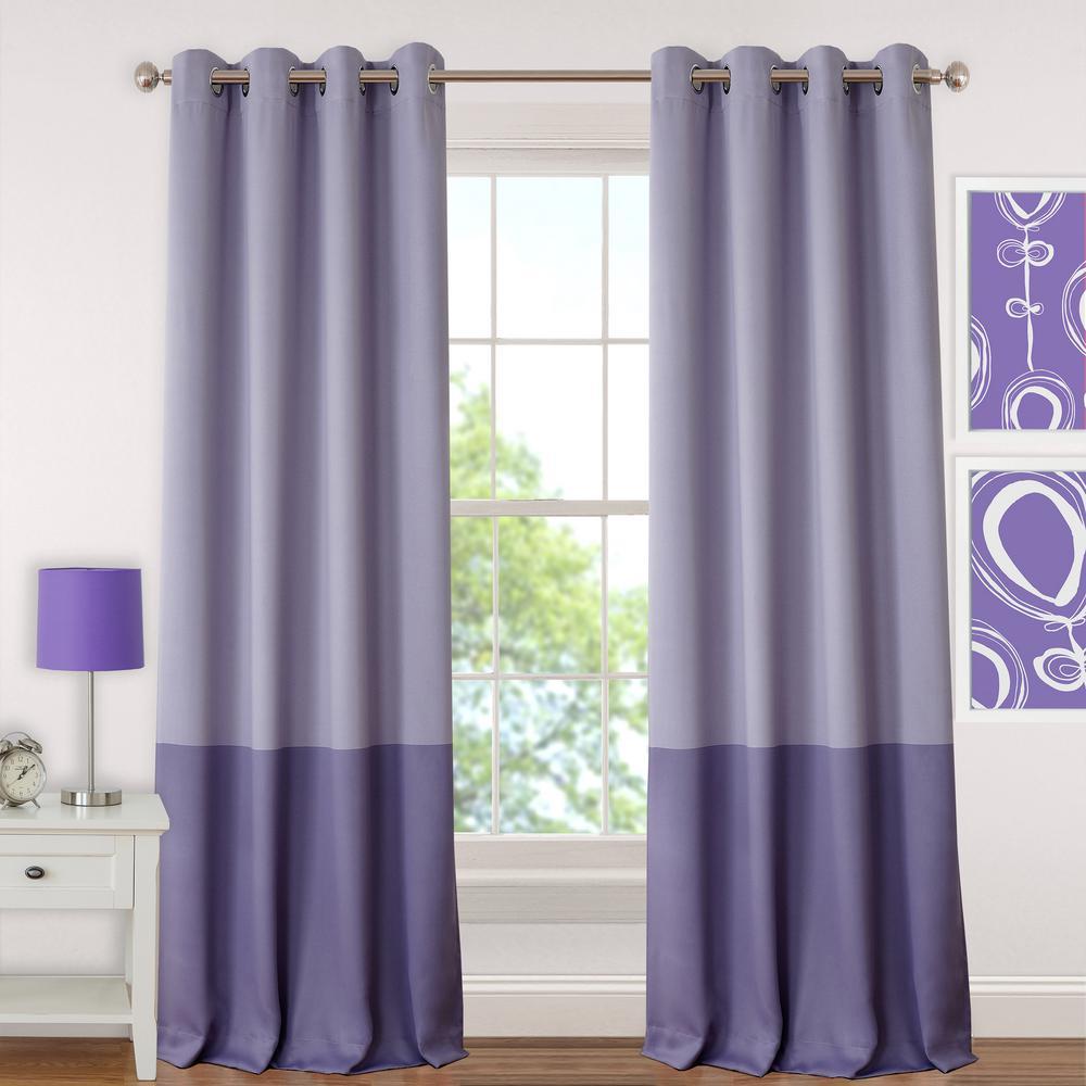 Null Blackout Juvenile 95 In. Teen Or Tween Blackout Room Darkening Grommet  Window Curtain Drape