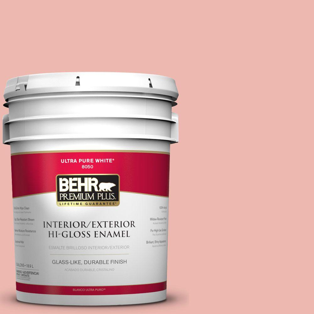 BEHR Premium Plus 5-gal. #M170-3 Carnation Coral Hi-Gloss Enamel Interior/Exterior Paint