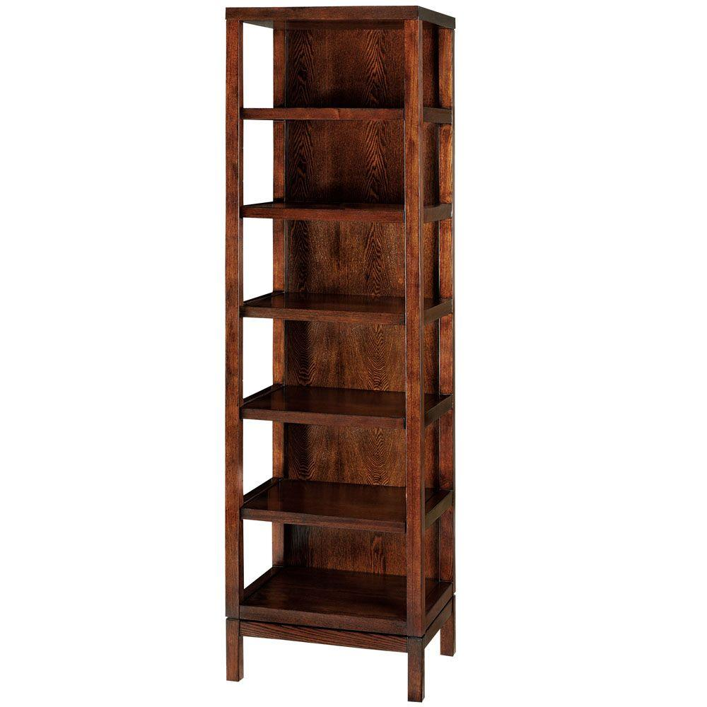 Martha Stewart Living Lombard Sable Brown 5-Shelf Bookcase