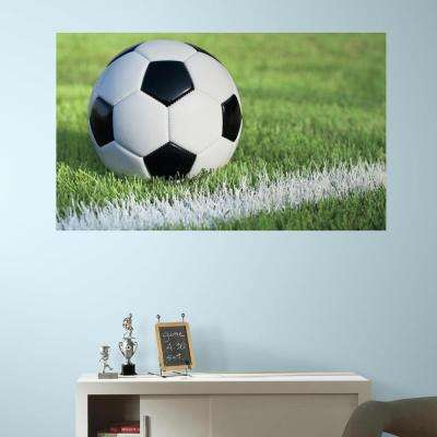 60 in. W x 36 in. H Soccer 2- Piece Peel and Stick Wall Decal Mural