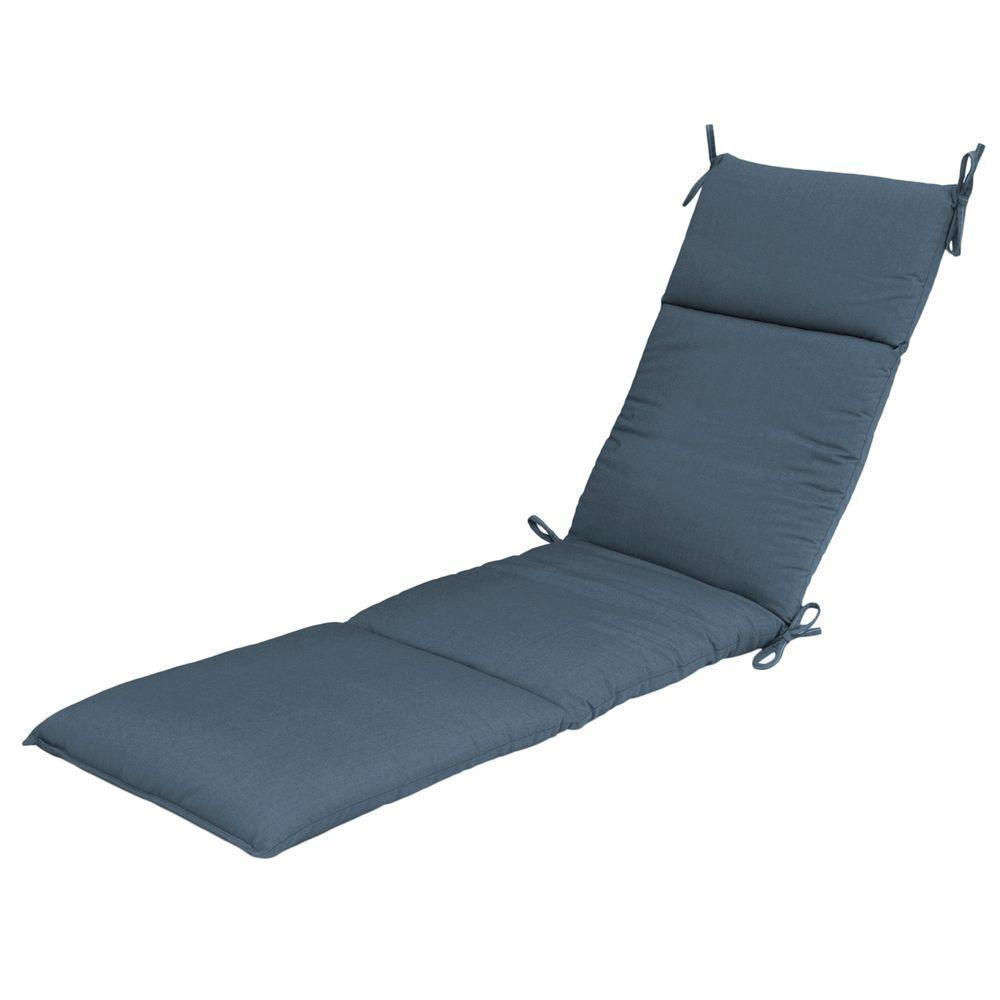 Canvas Sapphire Outdoor Chaise Cushion