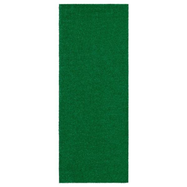 Evergreen Collection Green 1 ft. 8 in. x 4 ft. 11 in. Solid Runner Rug
