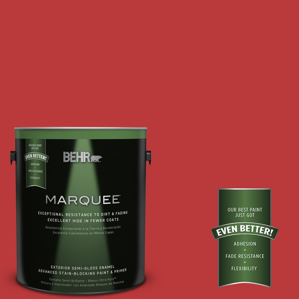 BEHR MARQUEE 1-gal. #UL110-7 Edgy Red Semi-Gloss Enamel Exterior Paint
