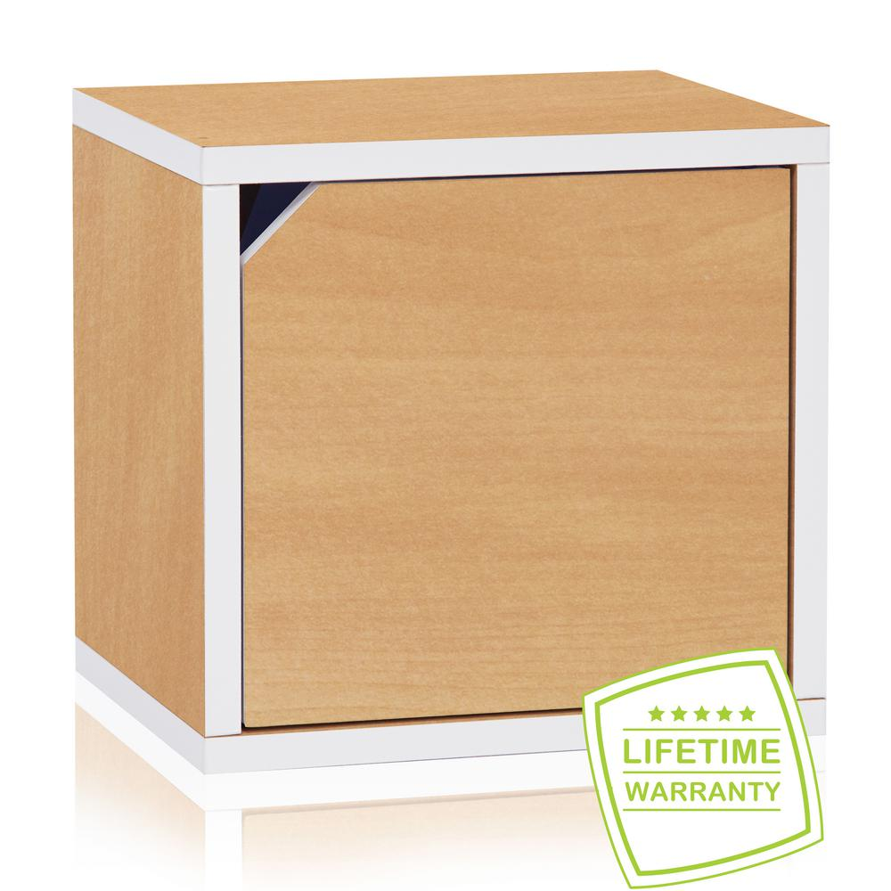 Connect System 11.2 X 13.4 X 13.4 ZBoard Stackable Storage Cube Organizer  Unit With Door In